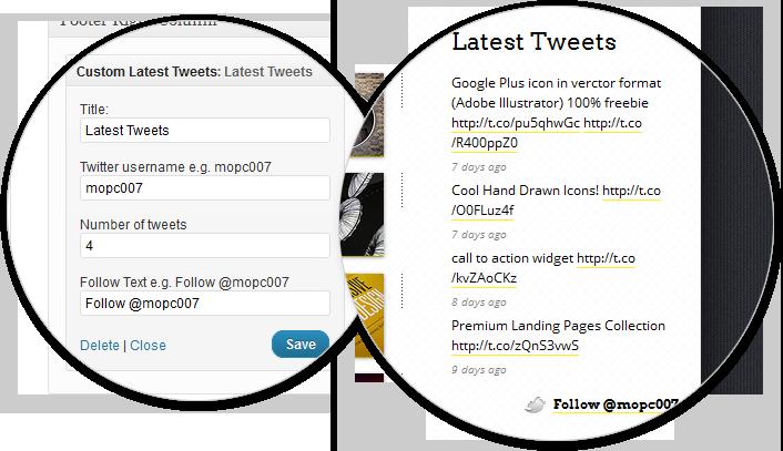 widget twitter